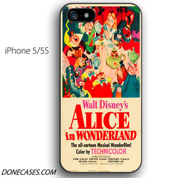 alice in wonderland vintage iPhone 5 / 5S Case
