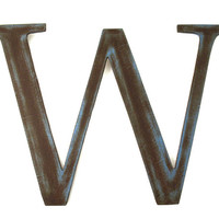 Metal Letter W Sign - Rustic Metal Letter - Metal Wall Letter - Industrial Letter - Decorative Letter - Letter wall Decor - Hanging Letter
