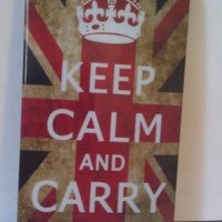 Stunning Vintage Style Union Jack British Flag, Keep Calm and Cary On - Hard Case Cover for iPhone 4 4s, NEW