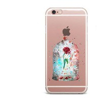 The Beauty and Beast Enchanted Rose Water Color Case
