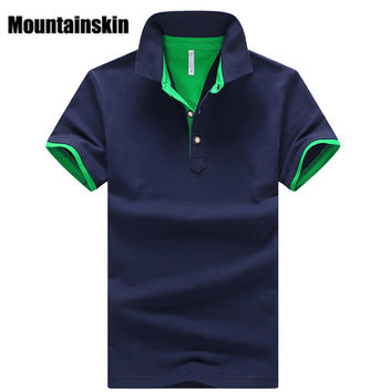 Mountainskin 2017 Solid Mens POLO Shirts Brand Cotton Short Sleeve Camisas Polo Summer Stand Collar Male Polo Shirt 4XL EDA324