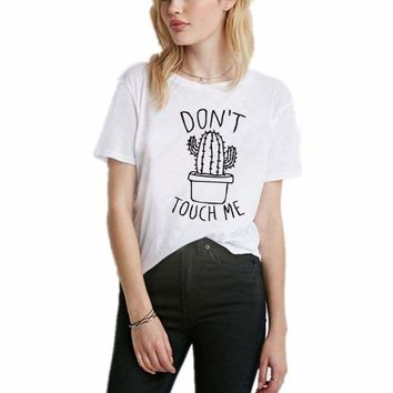 Don't touch me Printed  T-Shirt Top
