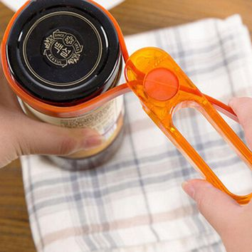 Size adjustable Jar Opener Container Bottle Opener Lid Can Tin Cap remover Kitchen tool Plastic kitchenware bar tools