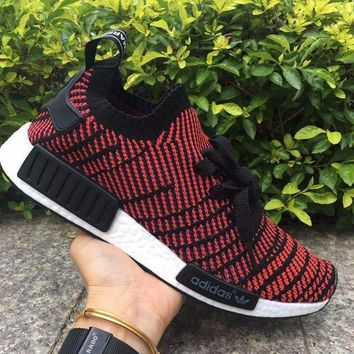ESBON Best Online Adidas NMD R1 Stlt Spring Summer 2018 Line up Black/Red Running Sport Shoes Camouflage Sneakers  Casual Shoes