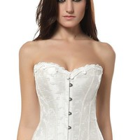 White Steel Boned Corset