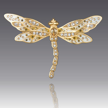 Bejeweled Dragonfly Pin - Jay Strongwater