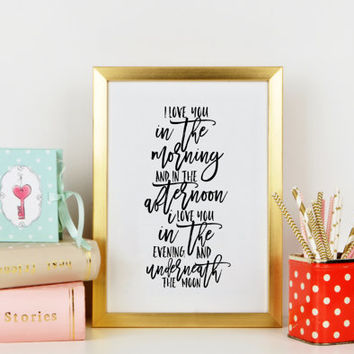 I LOVE YOU,Lovely Words,Love Quote,Gift For Him,Gift For Boyfriend,Gift For Husband,Anniversary,Valentines Day,Typography Print,Printable Ar