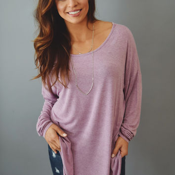 Old Town Stitched Top Violet