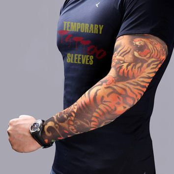 2pcs Fake Tattoo Elastic Arm Sleeve