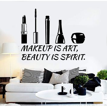 Vinyl Wall Decal Beauty Salon Quote Cosmetics Makeup Stickers Unique Gift (ig4507)