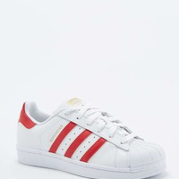 adidas Originals Superstar 80s Red and White Trainers - Urban Outfitters