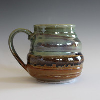 Coffee Mug Pottery, 14 oz, pottery mug, unique coffee mug, handmade ceramic cup, tea cup, coffee cup, handthrown mug, stoneware mug