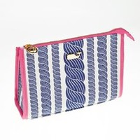 Rope Stripe Makeup Bag