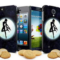 sailor moon in the glitter sky for iPhone 4, iPhone 4s, iPhone 5, Samsung Galaxy S3, Samsung Galaxy S4 Case