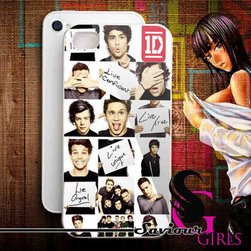 Funny One Direction Collage for iPhone 4/4S, 5/5S, 5C and Samsung Galaxy S3, S4 - Rubber and Plastic Case