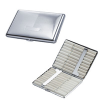 Felix Chrome Plated Brass Cigarette Case (holds 20 100s size Cigarettes)