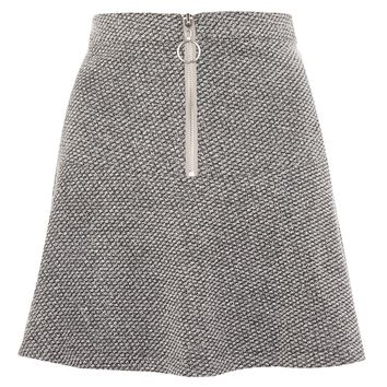 Salt And Pepper Peplum Hem Mini Skirt | Topshop