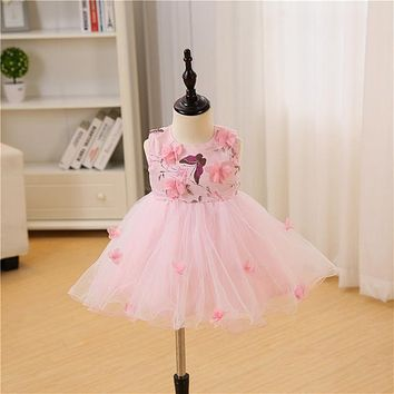 Baby Girl Dress 1 Year Birthday Dresses Flower Girl Infant Baptism Princess Wedding Party Dress