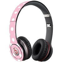 White Polka Dot on Baby Pink Decal Skin for Beats Solo HD Headphones by Dr. Dre