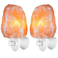 Set of 2 Natural Himalayan Salt Night Light