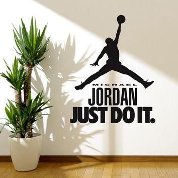 MICHAEL JORDAN Decal WALL STICKER Art Home Decor Basketball Sports Art Home Decor Bask