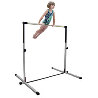 3ft - 5ft White Adjustable Horizontal Gymnastics Bar by Nimble Sports