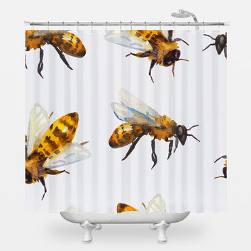 What's All the Buzz? Shower Curtain