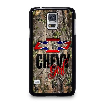 CAMO BROWNING REBEL CHEVY GIRL Samsung Galaxy S5 Case Cover