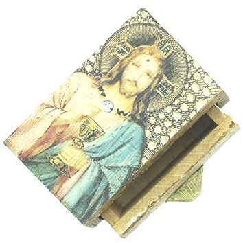 WOOD BOX SACRED HEART OF JESUS.