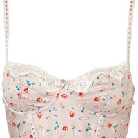 Mint Floral Ribbon Slot Bralet - New In - Topshop