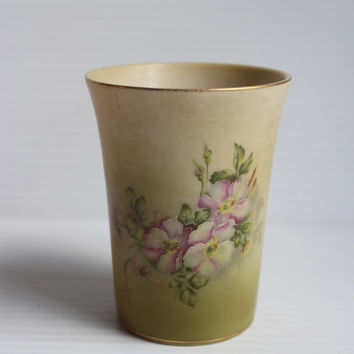 NIPPON Hand Painted China Cup, Vintage cup with purple flowers, vintage hand painted cup, Vintage Keepsake, vintage ceramic cup,Mother's Day
