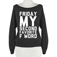 HUMAN Friday My Second Favorite F Athletic Black T-Shirt