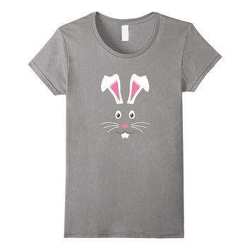 CUTE BUNNY FACE KIDS HALLOWEEN COSTUME GIFT IDEA T-SHIRT.