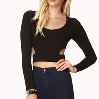 Striking Cutout Waist Crop Top