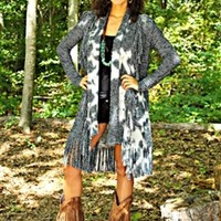 Crazy Girl Fringe Cardigan