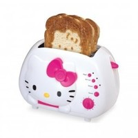 Amazon.com: Hello Kitty KT5211 2-Slice Wide slot toaster with cool Touch Exterior: Kitchen & Dining
