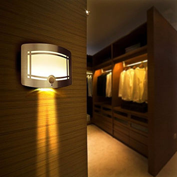 Hot Led Wall Lamp Wireless Stick Anywhere Battery Powered Motion Sensor Wall Light Home Decoration Lamp Closet Light