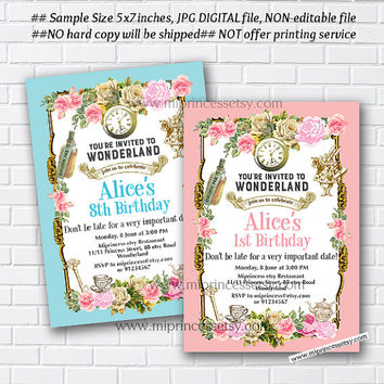 Best Alice In Wonderland Invitations Products on Wanelo