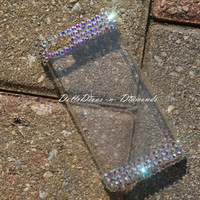 Swarovski Crystal Embellished Iphone/Galaxy Iridescent Phone Case