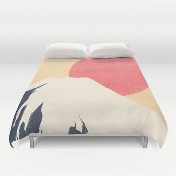 Dreams of Fuji Duvet Cover by anipani