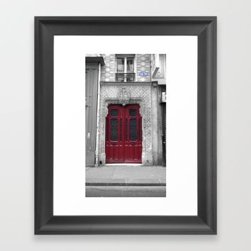 Paris black and white with color Framed Art Print by Mr Splash