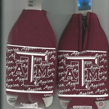 Texas A&M Aggies Koozie Set of 2 Team Logo Drink Bottle Koozies New