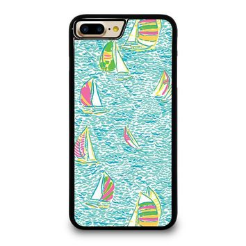 LILLY PULITZER SAILBOAT iPhone 4/4S 5/5S/SE 5C 6/6S 7 8 Plus X Case