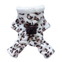Adorable Leopard Dog Coat for Dog Hoodie Dog Clothes Soft Cozy Pet Clothes,S