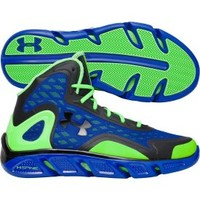 Under Armour Men's Spine Bionic Basketball Shoe - Blue/Green | DICK'S Sporting Goods