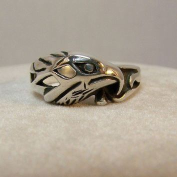 Sterling Silver American Eagle Ring 73 by Firefallstudios on Etsy