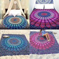 Indian Mandala Yoga Mat Wall Hanging Boho Beach Mat Throw Tapestry Towel Decor