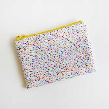 Rainbow Droplets Pouch