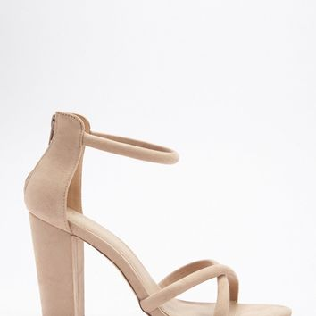 Crisscross Block Heel Sandals