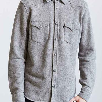 Levi's Barstow French Terry Button-Down Shirt - Charcoal